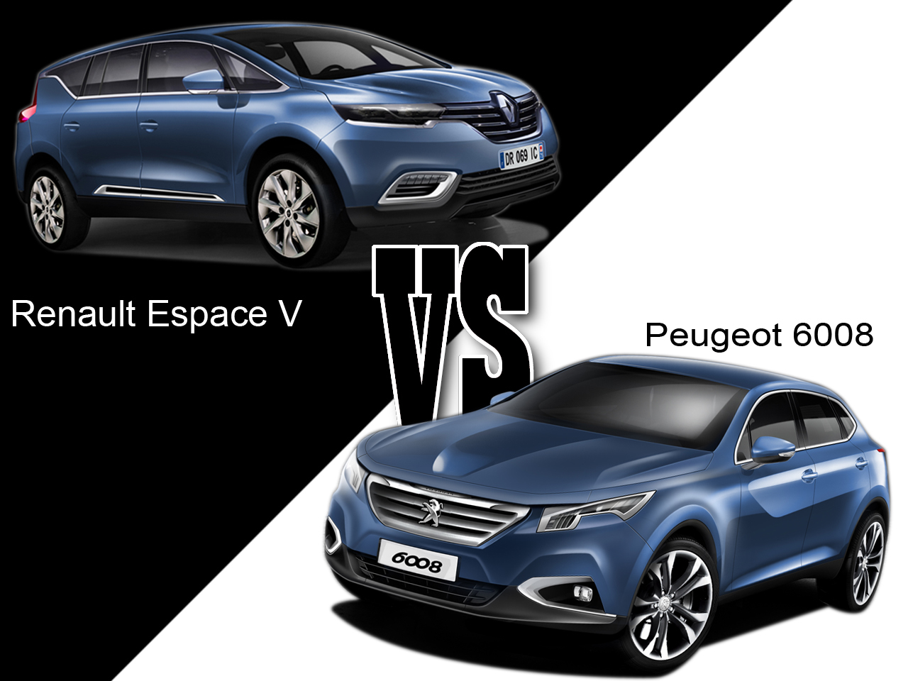 renault espace v vs peugeot 6008 le renouveau du haut de. Black Bedroom Furniture Sets. Home Design Ideas