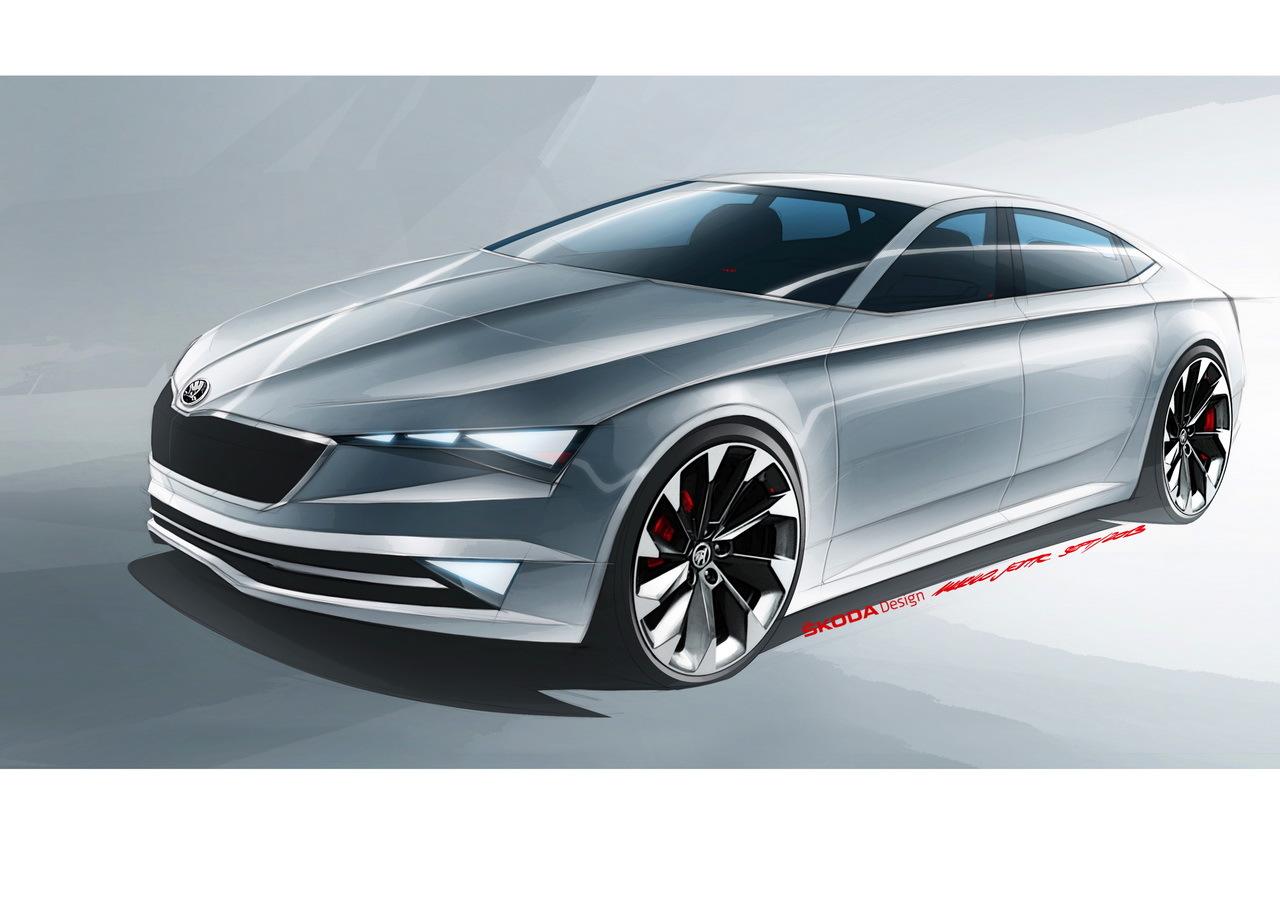 photo du concept car Skoda Vision C (2014) Salon de Genève 2014 Skoda Vision C : un coupé à cinq portes bientôt dans la gamme