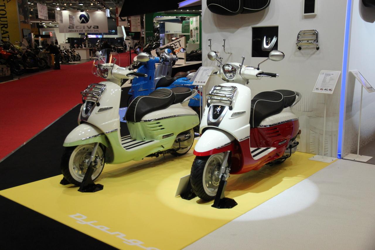 Salon de la moto de paris 2013 peugeot django 125 l 39 argus for Salon de la photo paris