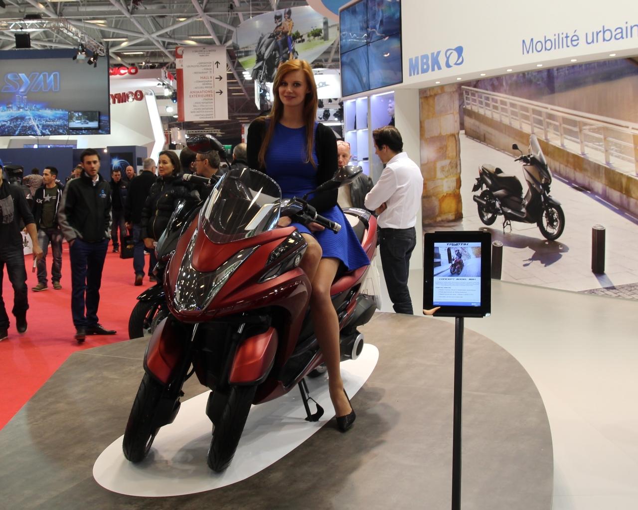 Salon de la moto de paris 2013 mbk tryptik yamaha for Salon de la photo paris
