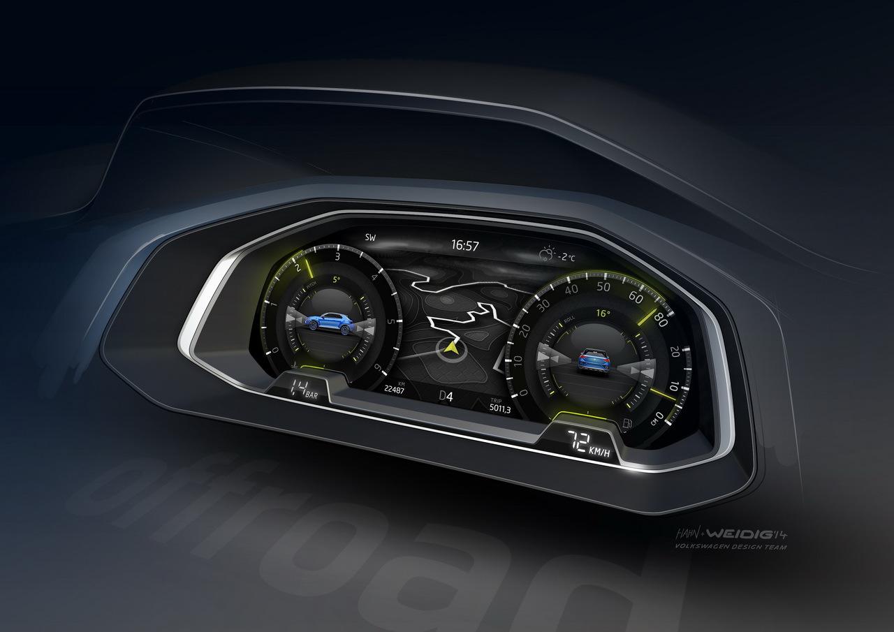 Volkswagen t roc volkswagen t roc concept un avant for Interior volkswagen t roc