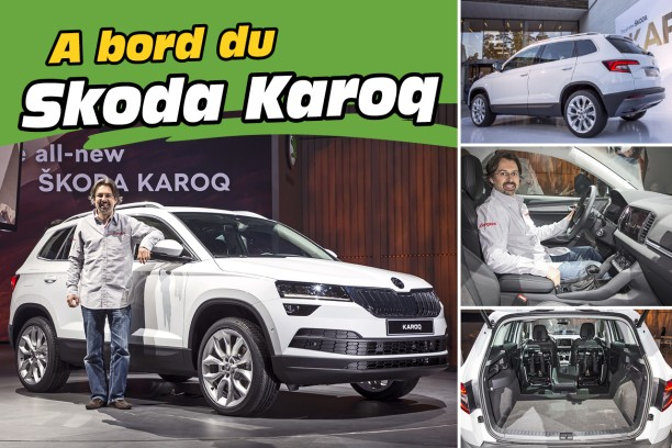 skoda karoq 2017 l 39 d j bord du rempla ant du yeti l 39 argus. Black Bedroom Furniture Sets. Home Design Ideas