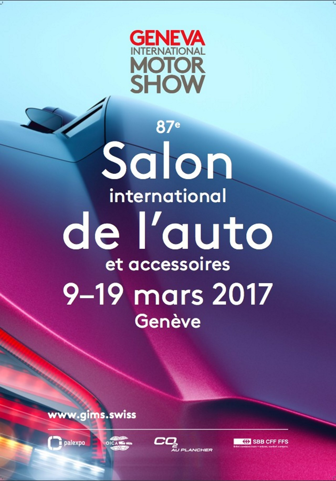 Salon de gen ve 2017 l 39 affiche d voil e photo 2 l 39 argus - Salon de l auto geneve ...