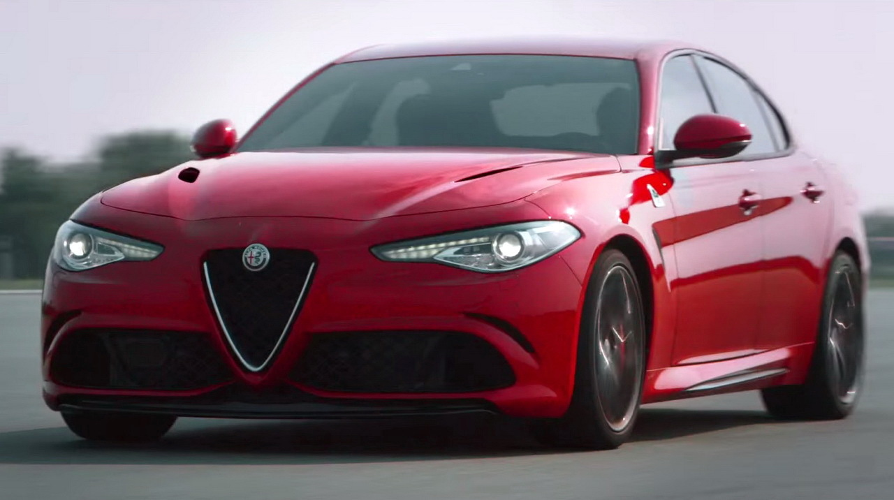 vid o alfa romeo giulia qv 2015 coutez le son du v6 de 510 ch l 39 argus. Black Bedroom Furniture Sets. Home Design Ideas