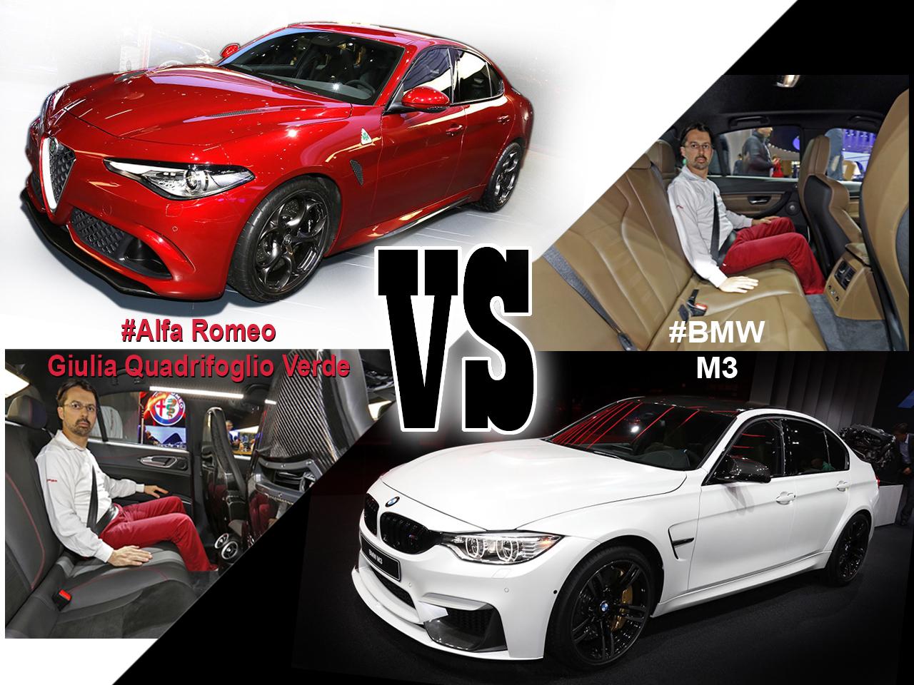 Bmw M3 A Vendre >> Alfa Romeo Giulia vs BMW M3 : les familiales premiums ...