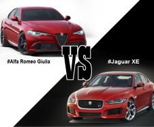 illustration Alfa Romeo Giulia VS Jaguar XE