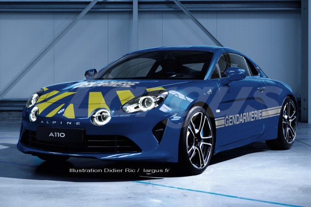 la gendarmerie est int ress e par la nouvelle alpine a110. Black Bedroom Furniture Sets. Home Design Ideas