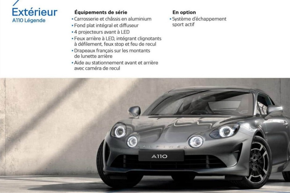 alpine a110 pure et a110 l gende les infos en attendant les prix photo 12 l 39 argus. Black Bedroom Furniture Sets. Home Design Ideas