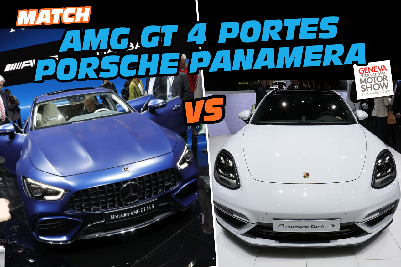 amg gt 4 portes vs porsche panamera le match des fus es familiales photo 1 l 39 argus. Black Bedroom Furniture Sets. Home Design Ideas