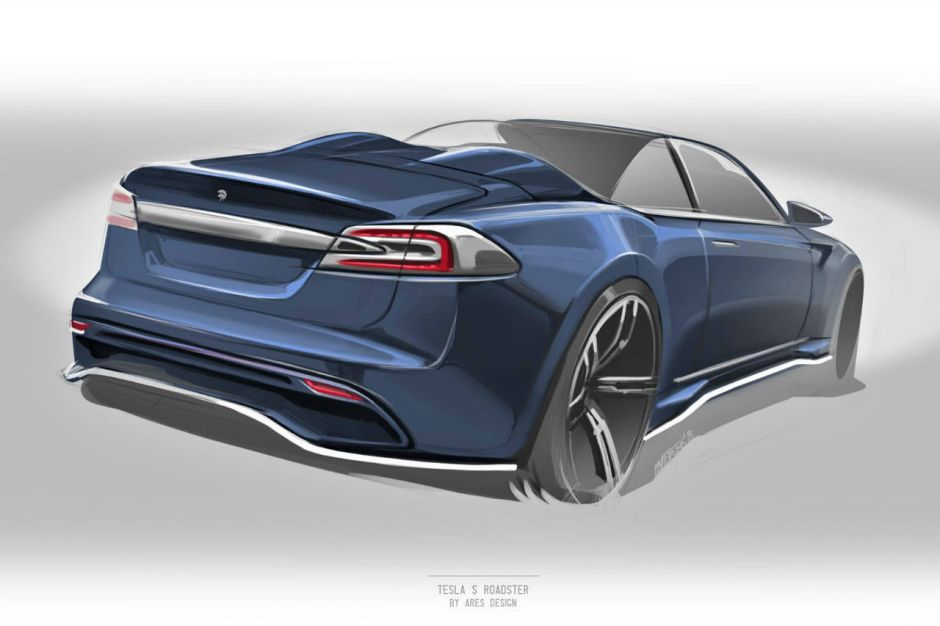 tesla model s ares design pr pare une version cabriolet photo 1 l 39 argus. Black Bedroom Furniture Sets. Home Design Ideas