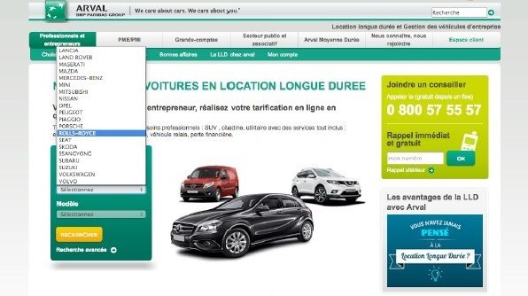 Arval compare 500 mod�les et 13 500 versions