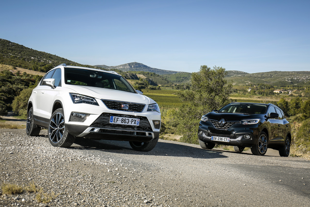 dossier sp cial essai comparatif seat ateca vs renault kadjar diesel photo 1 l 39 argus. Black Bedroom Furniture Sets. Home Design Ideas