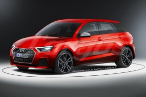 audi A1 Sportback 2018 vue avant illustration rouge