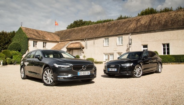 essai comparatif la volvo v90 d4 d fie l 39 audi a6 avant tdi 190 ultra l 39 argus. Black Bedroom Furniture Sets. Home Design Ideas