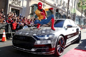 Audi A8 Spiderman Hollywood Boulevard Los Angeles