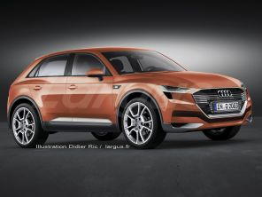 illustration photomontage futur Audi Q2 SUV 2016