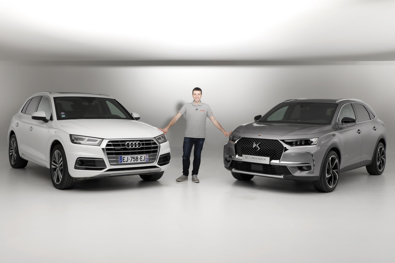 ds 7 crossback vs audi q5 premier match exclusif en vid o photo 1 l 39 argus. Black Bedroom Furniture Sets. Home Design Ideas