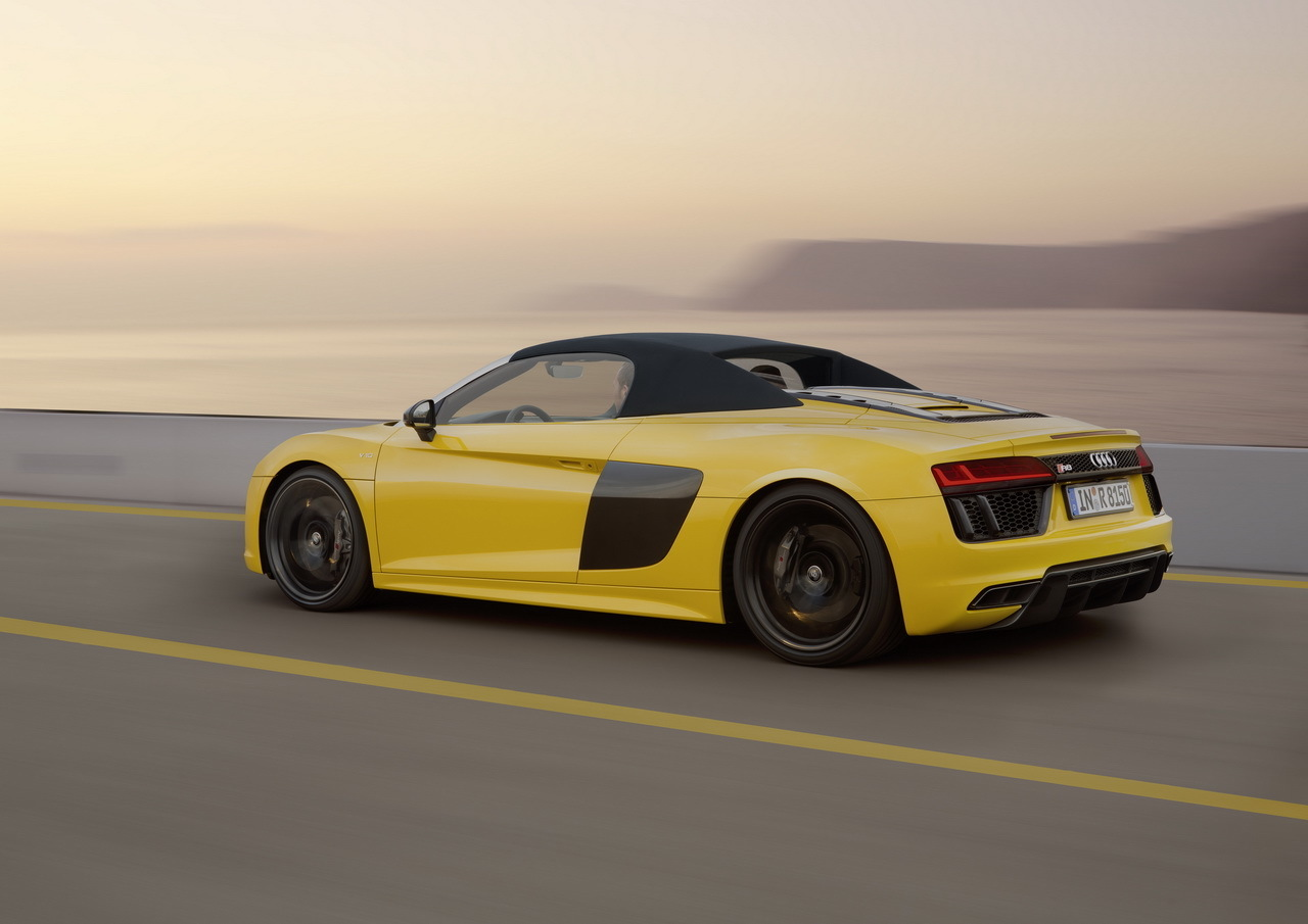 prix audi r8 spyder 2016 des tarifs partir de 184 000 euros photo 6 l 39 argus. Black Bedroom Furniture Sets. Home Design Ideas