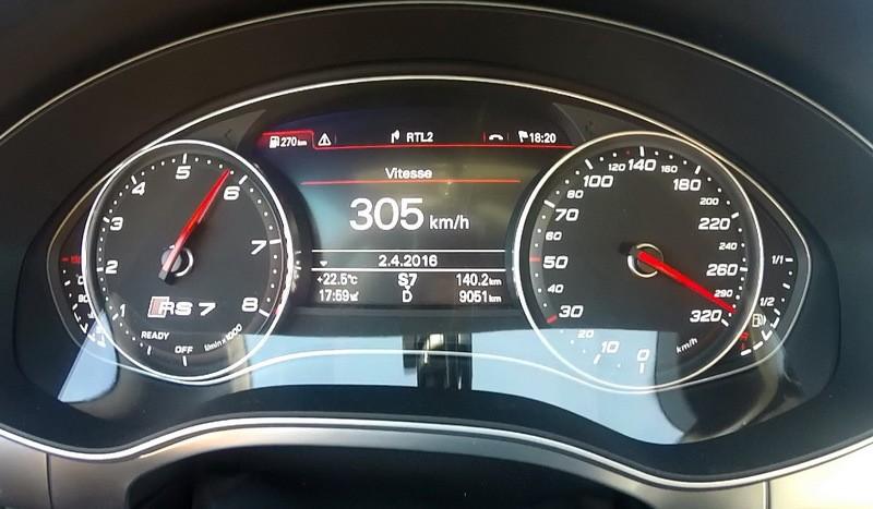 Vidéo : plus de 300 km/h en Audi RS 7 Performance - Photo ...