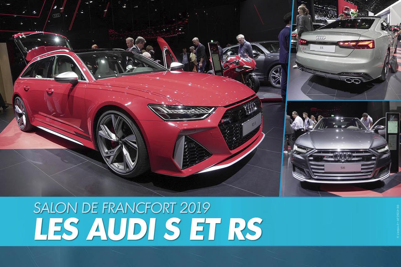 Top Audi : les modèles S et RS au salon de Francfort