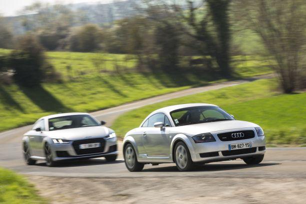 2e7119cbc6f3 La première et la troisième génération d Audi TT réunies pour une rencontre  inédite.