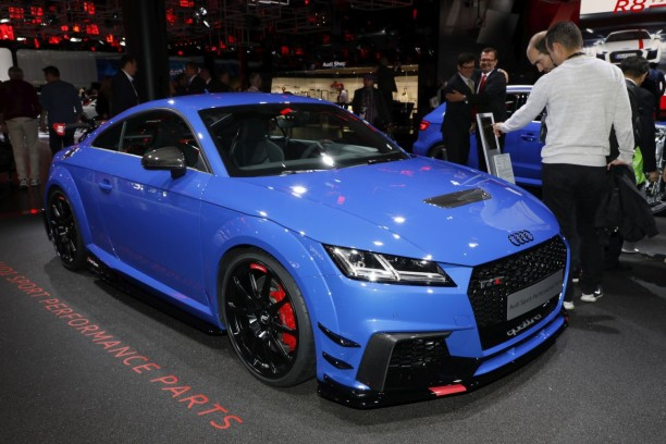 Audi TT RS Performance Parts bleu nogaro vue avant