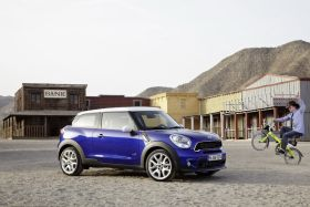 3/4 Mini Paceman bleue sable