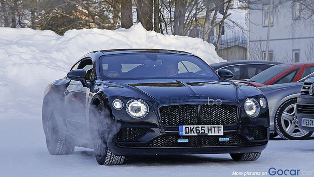 bentley continental gt 2017 premi res photos espions l 39 argus. Black Bedroom Furniture Sets. Home Design Ideas