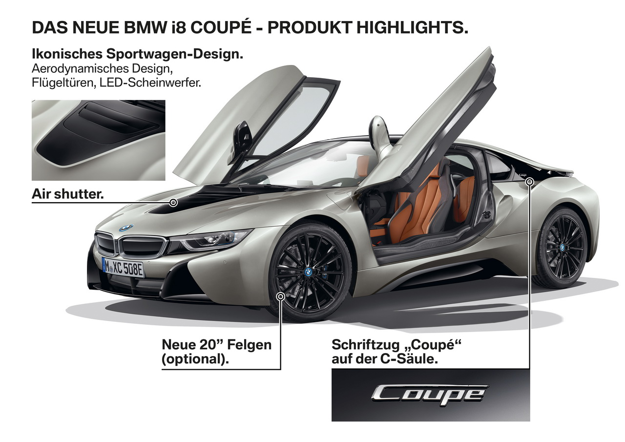 bmw i8 coup 2018 une petite mise jour pour los angeles photo 9 l 39 argus. Black Bedroom Furniture Sets. Home Design Ideas