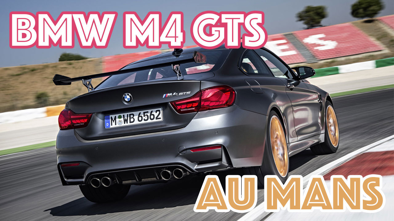 bmw m4 gts notre vid o sur le circuit des 24h du mans l 39 argus. Black Bedroom Furniture Sets. Home Design Ideas