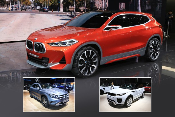 le bmw x2 face aux mercedes gla et range rover evoque l. Black Bedroom Furniture Sets. Home Design Ideas