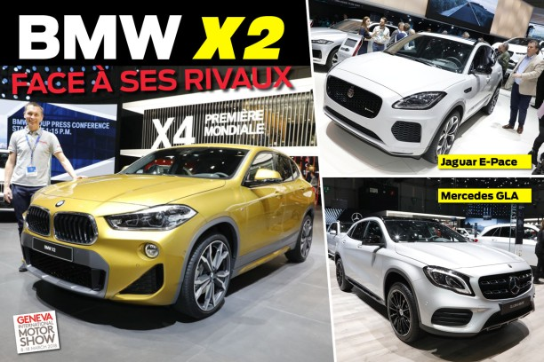 le bmw x2 face aux jaguar e pace et mercedes gla l 39 argus. Black Bedroom Furniture Sets. Home Design Ideas