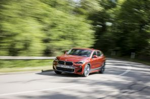 BMW X2 2018 M Sport orange action avant gauche