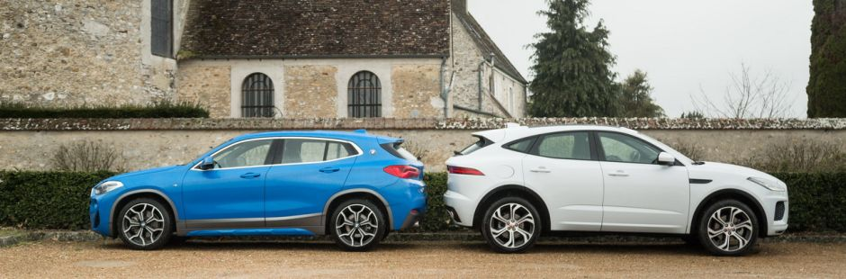 essai comparatif le bmw x2 20d d fie le jaguar e pace d180 photo 3 l 39 argus. Black Bedroom Furniture Sets. Home Design Ideas