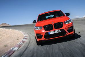 bmw x4M competition 2019 avant rouge