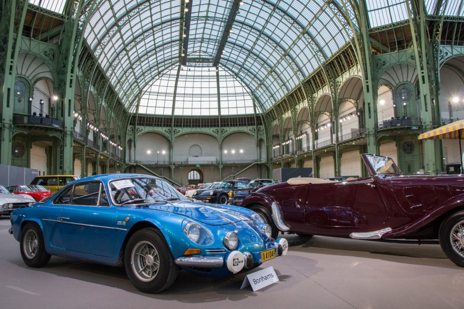 vente bonhams 2016 photos des plus belles voitures au grand palais renault alpine a110 1600s. Black Bedroom Furniture Sets. Home Design Ideas