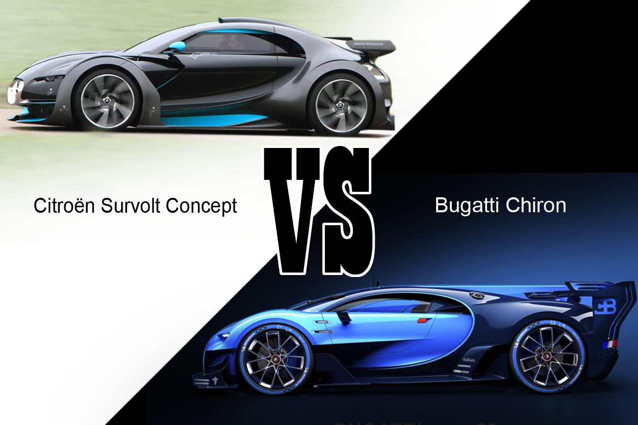 bugatti chiron vs citro n survolt des ressemblances troublantes photo 1 l 39 argus. Black Bedroom Furniture Sets. Home Design Ideas