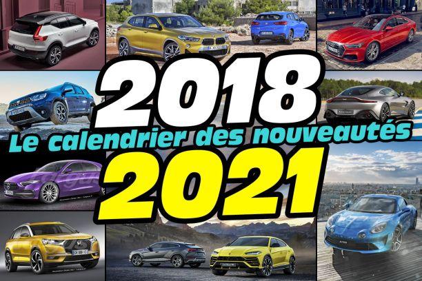 Calendrier : toutes les nouveautés automobiles à venir jusqu'en 2021 !