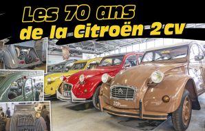 Pour fêter les 70 ans de la Citroën 2CV, nous sommes allés au conservatoire Citroën où sont stockées toutes les versions de la mythique auto.