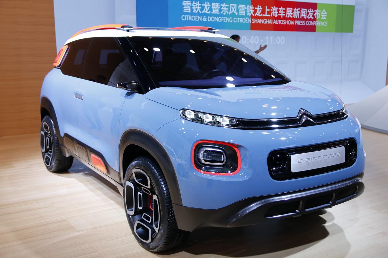 les voitures fran aises au salon de shanghai 2017 citro n c aircross concept l 39 argus. Black Bedroom Furniture Sets. Home Design Ideas