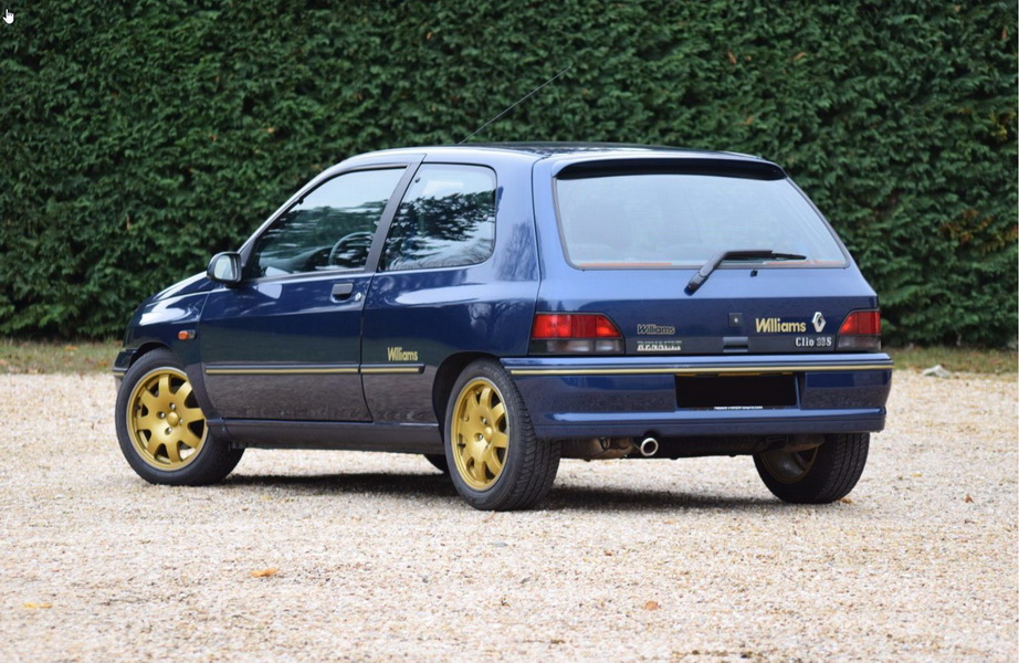 r tromobile 2017 les sportives fran aises aux ench res renault clio williams 1993. Black Bedroom Furniture Sets. Home Design Ideas