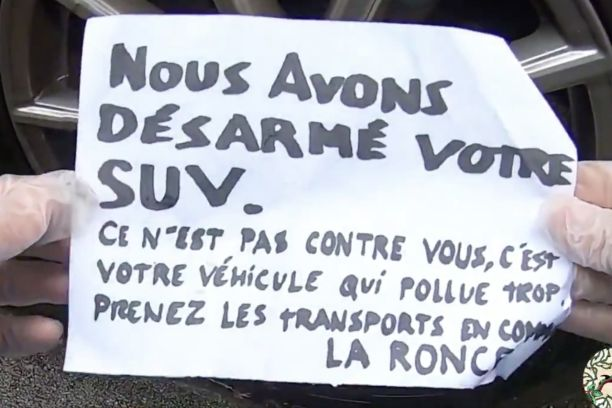 Collectif la ronce action anti-suv message