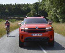 vue avant concept-car Citro�n Aircross roulant cycliste