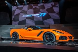 Chevrolet Corvette ZR1 2017 vue avant orange