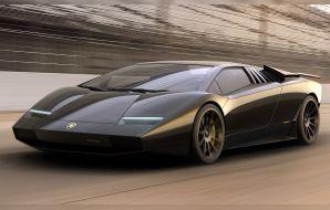 Lamborghini Countach 50 illustration noir
