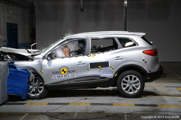 renault kadjar 2015 vid o et r sultats du crash test euroncap l 39 argus. Black Bedroom Furniture Sets. Home Design Ideas