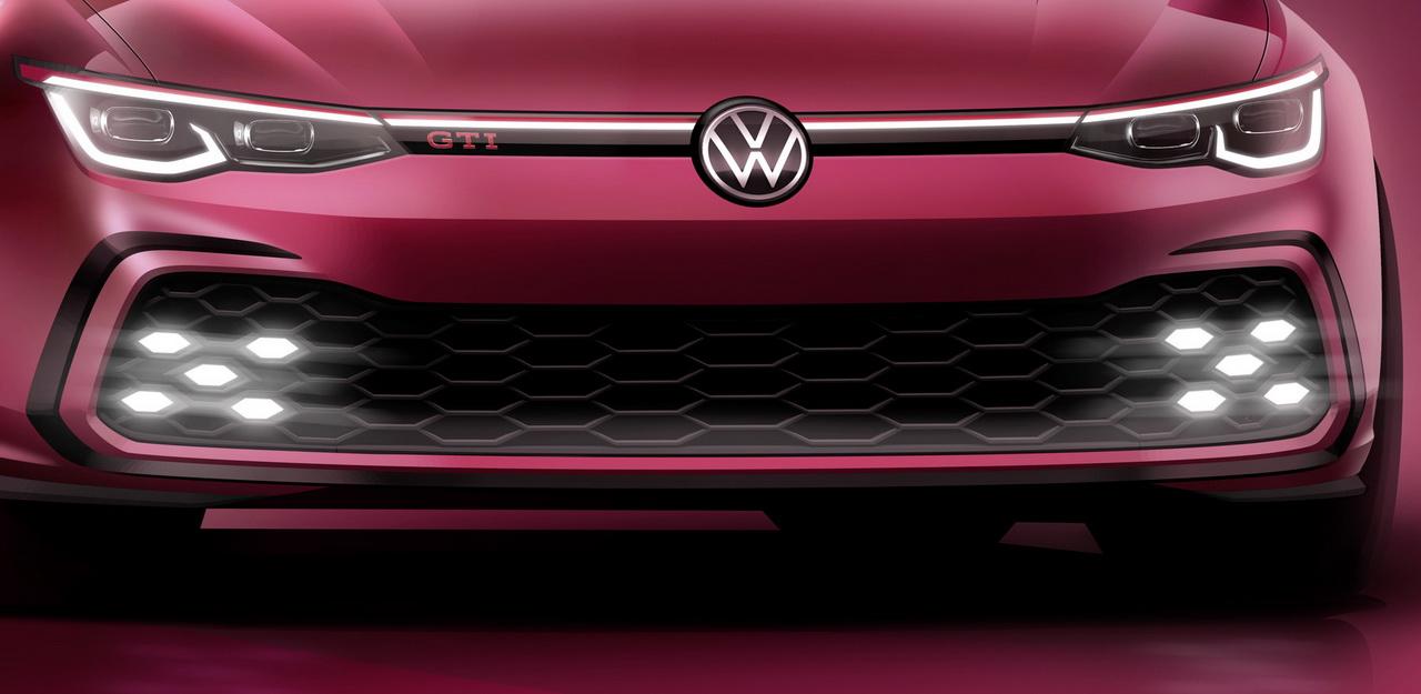 Volkswagen Golf 8 GTI (2020). Première image officielle avant Genève