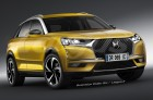 illustration photomontage futur DS3 Crossback 2019 vue avant jaune