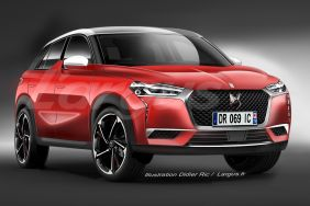 illustration DS3 Crossback vue avant rouge DS performance