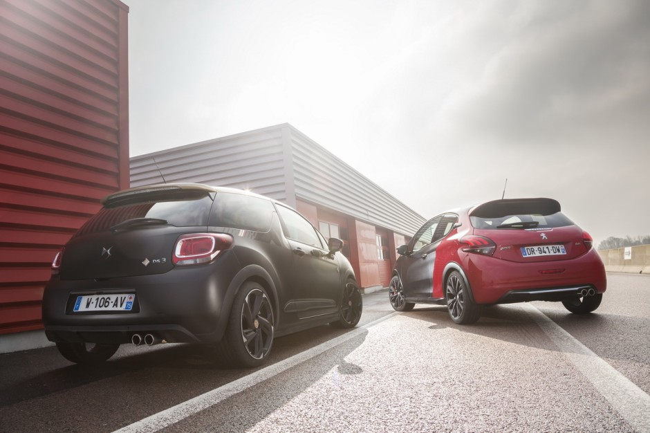 essai comparatif la ds3 performance d fie la 208 gti. Black Bedroom Furniture Sets. Home Design Ideas
